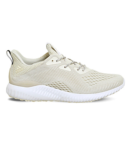 ADIDAS Alphabounce mesh trainers (Chalk+white+em