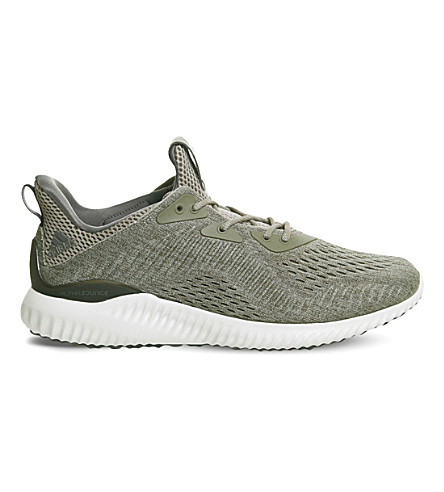 ADIDAS Alphabounce mesh trainers (Trace+olive+em