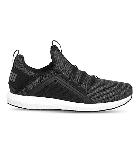 PUMA Mega NRGY mesh trainers (Black+white+knit