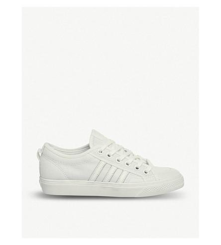 ADIDAS Nizza low-top canvas trainers (White+mono