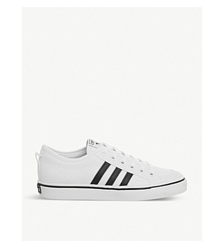 ADIDAS Nizza canvas low-top trainers (White+core+black