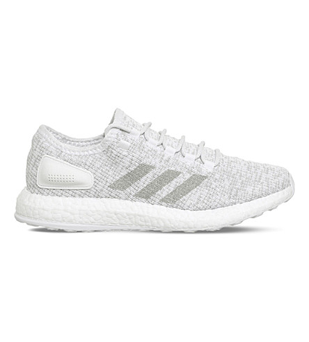 ADIDAS Pure Boost primeknit trainers (White