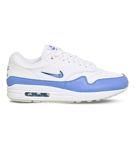 NIKE Air Max 1 Jewel leather trainers (White+blue