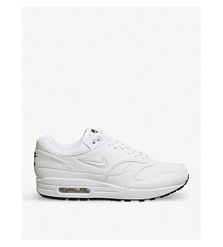 NIKE Air Max 1 Jewell leather trainers (White+obsidian