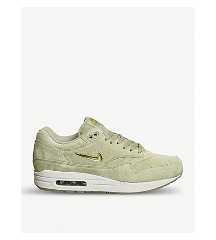 NIKE Air Max 1 Jewel suede trainers (Neutral+olive