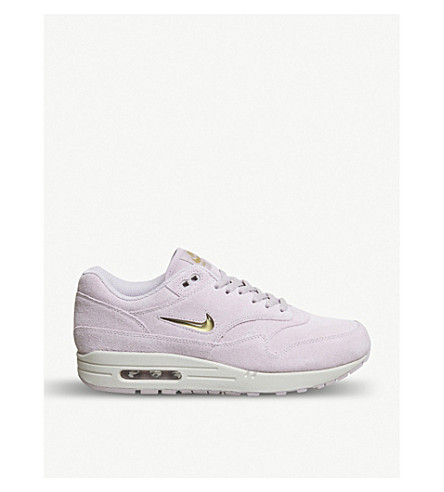 NIKE Air Max 1 Jewel suede trainers (Particle+rose+gold