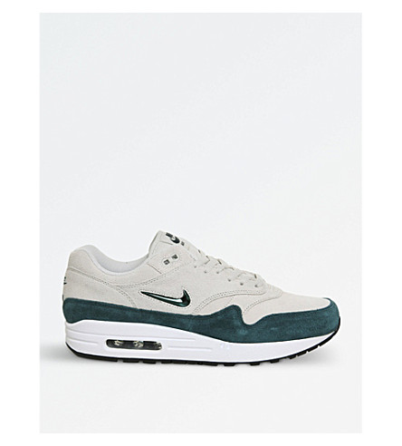 NIKE Air Max 1 Jewel suede trainers (Light+bone+teal