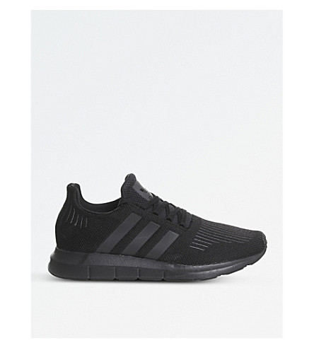 ADIDAS Swift Run knitted trainers (Black+mono