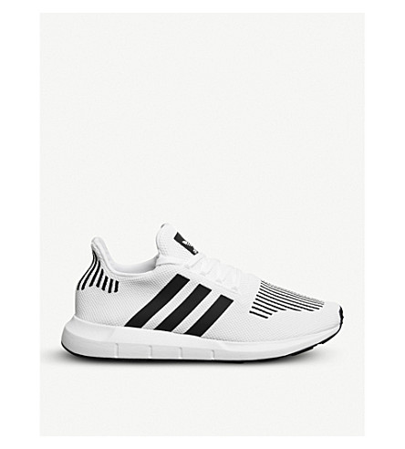 ADIDAS Swift Run low-top knit trainers (White+core+black