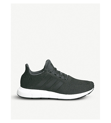 ADIDAS Swift Run low-top knit trainers (Carbon