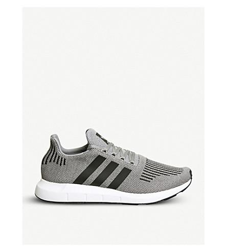 ADIDAS Swift Run low-top knit trainers (Grey+core+black