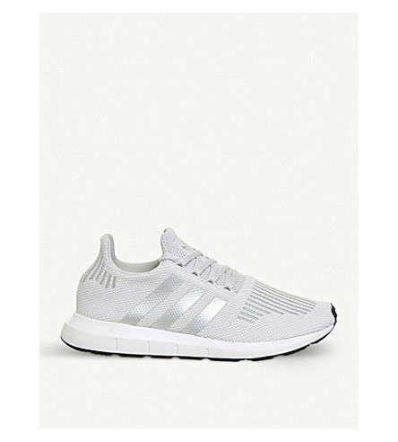 ADIDAS Swift Run knitted trainers (Grey+silver+metallic