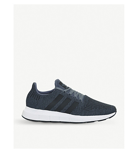 ADIDAS Swift Run low-top knitted trainers (Raw+steel