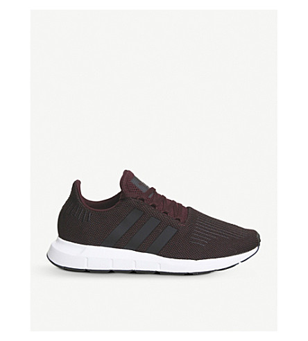 ADIDAS Swift Run low-top knitted trainers (Maroon+white