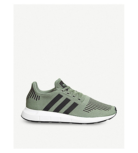 ADIDAS Swift Run low-top knit trainers (Trace+cargo+black