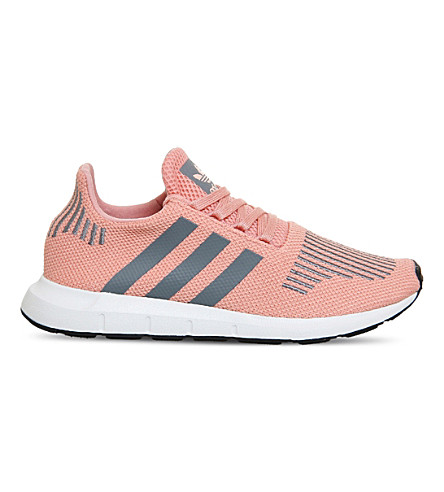 ADIDAS Swift Run knitted trainers (Trace+pink+grey