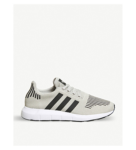 ADIDAS Swift Run knitted trainers (Sesame+black+white