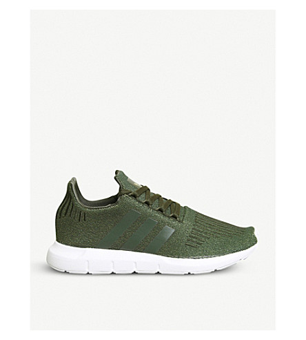 ADIDAS Swift Run low-top knit trainers (Night+cargo+glitter