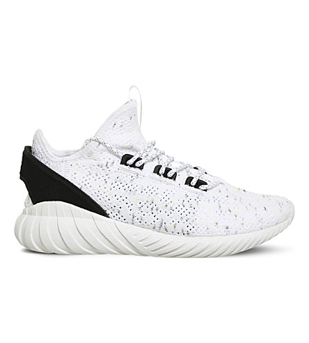 ADIDAS Tubular Doom textile trainers (White+black+pk