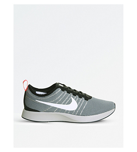 NIKE Dualtone Racer mesh trainers (Pale+grey+black+red
