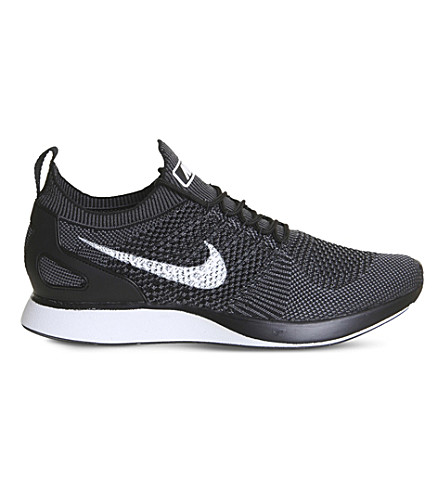 NIKE Air Zoom Mariah Flyknit Racer trainers (Black+white+grey