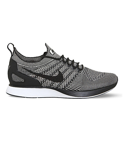 NIKE Air Zoom Mariah Flyknit Racer trainers (Grey+black+red+white