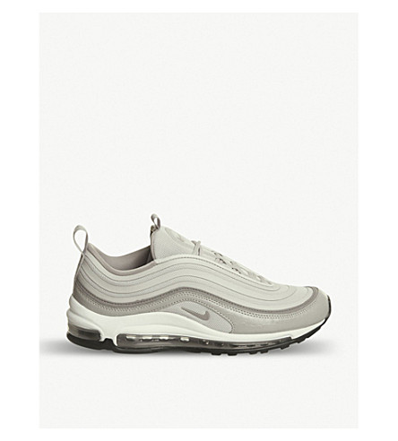 NIKE Air Max 97 leather and mesh trainers (Moon+particle+sepia