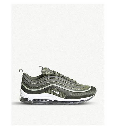 NIKE Air Max 97 velvet and suede trainers (Cargo+khaki+white