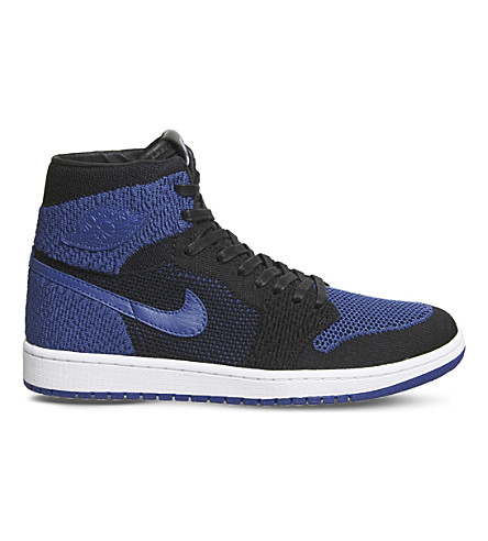 NIKE Air Jordan 1 Flight knit trainers (Black+game+royal