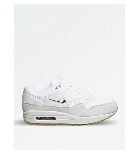 NIKE Air Max Jewell leather trainers (Summit+white+gold
