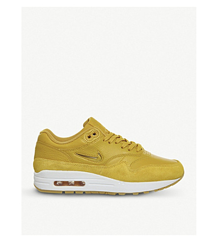 NIKE Air Max 1 Jewel leather trainers (Mineral+yellow