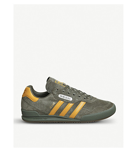 ADIDAS Jeans Super suede trainers (Tactile+yellow+green