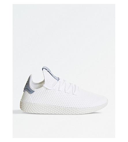 ADIDAS Pharrell Williams Tennis HU mesh trainers (White+tactile+blue