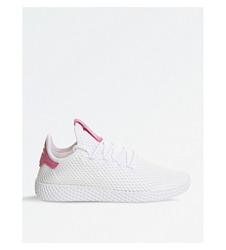 ADIDAS Pharrell Williams Tennis HU mesh trainers (White+solar+pink