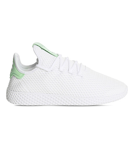 ADIDAS Pharrell Williams Tennis HU mesh trainers (White+green+glow
