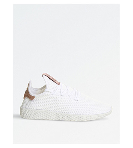 ADIDAS Pharrell Williams Tennis HU mesh trainers (White+raw+pink