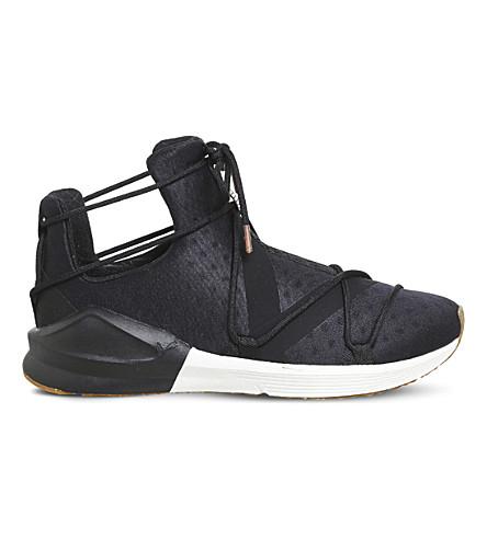 PUMA Fierce Rope mesh high-top trainers (Puma+black+white+vr