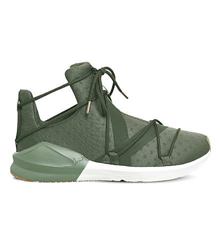 PUMA Fierce Rope mesh high-top trainers (Olive+night+white+vr