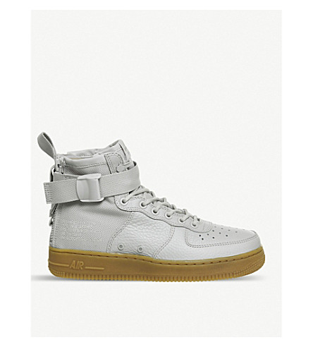 NIKE SF AF1 17 mid-top leather trainers (Vast+grey