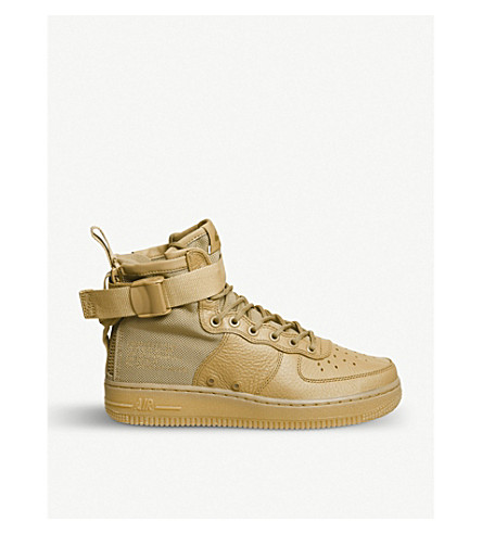 NIKE SF AF1 17 mid-top leather trainers (Elemental+gold