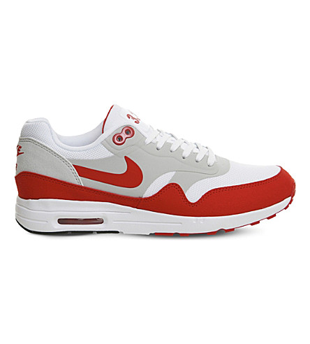 NIKE Air Max 1 Ultra 2.0 suede and mesh trainers (Uni+red+white+og+le
