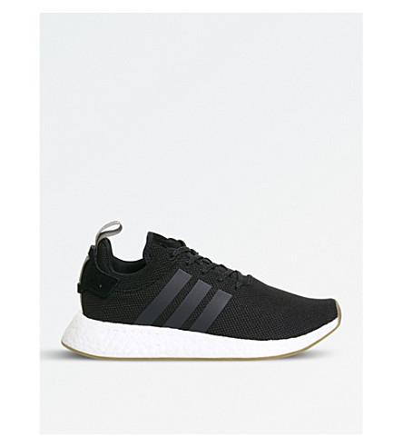 ADIDAS NMD R2 Primeknit 运动鞋 (黑 + 跟踪 + 货物
