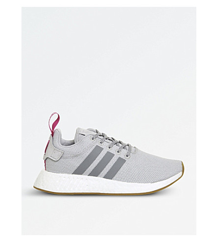 ADIDAS NMD R2 Primeknit trainers (Grey+two+pink