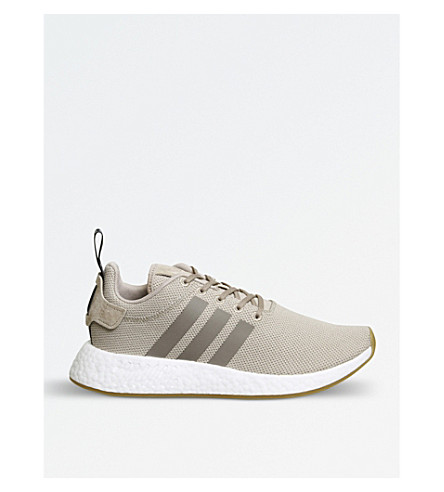 ADIDAS NMD R2 Primeknit trainers (Trace+khaki+brown