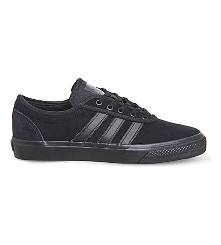 ADIDAS Adi Ease low-top canvas trainers (Black+mono