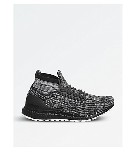 ADIDAS Ultra Boost ATR Primeknit trainers (Black+black+white