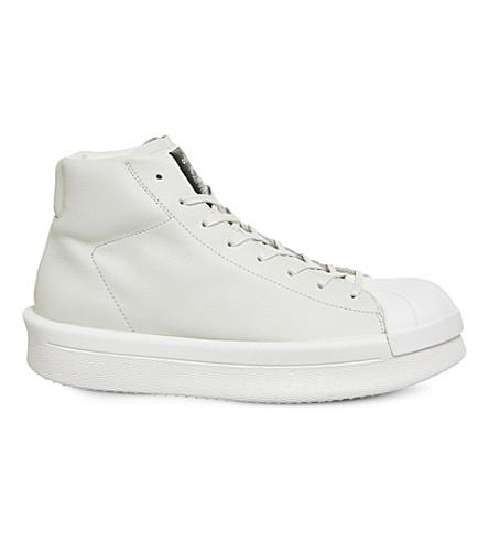 ADIDAS X RICK OWENS Ro Mastodon pro model ll leather trainers (Milk+black