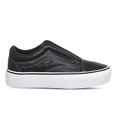 VANS Vans x Karl Lagerfeld Old Skool laceless leather platform trainers (Karl+lagerfeld+black