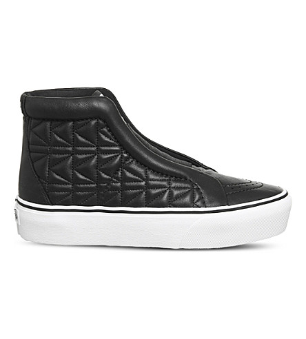 VANS Vans x Karl Lagerfeld Sk8-Hi laceless leather platform trainers (Karl+lagerfeld+black
