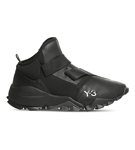 ADIDAS Y3 Y3 Ryo leather trainers (Black+mono